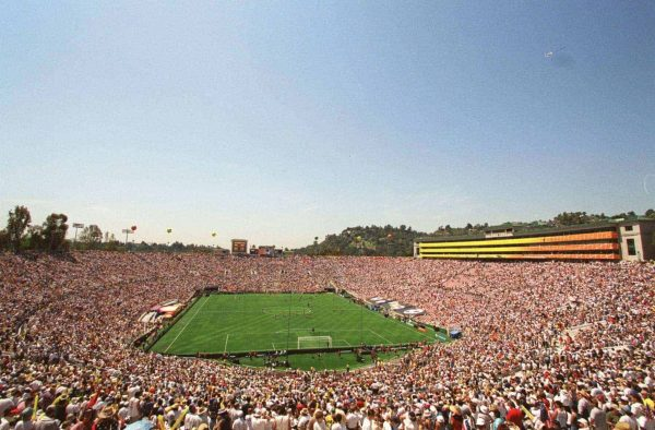 General view of the Pasadena Rose Bowl, venue for the third place play off (Picture by: Jon Buckle / EMPICS Sport)