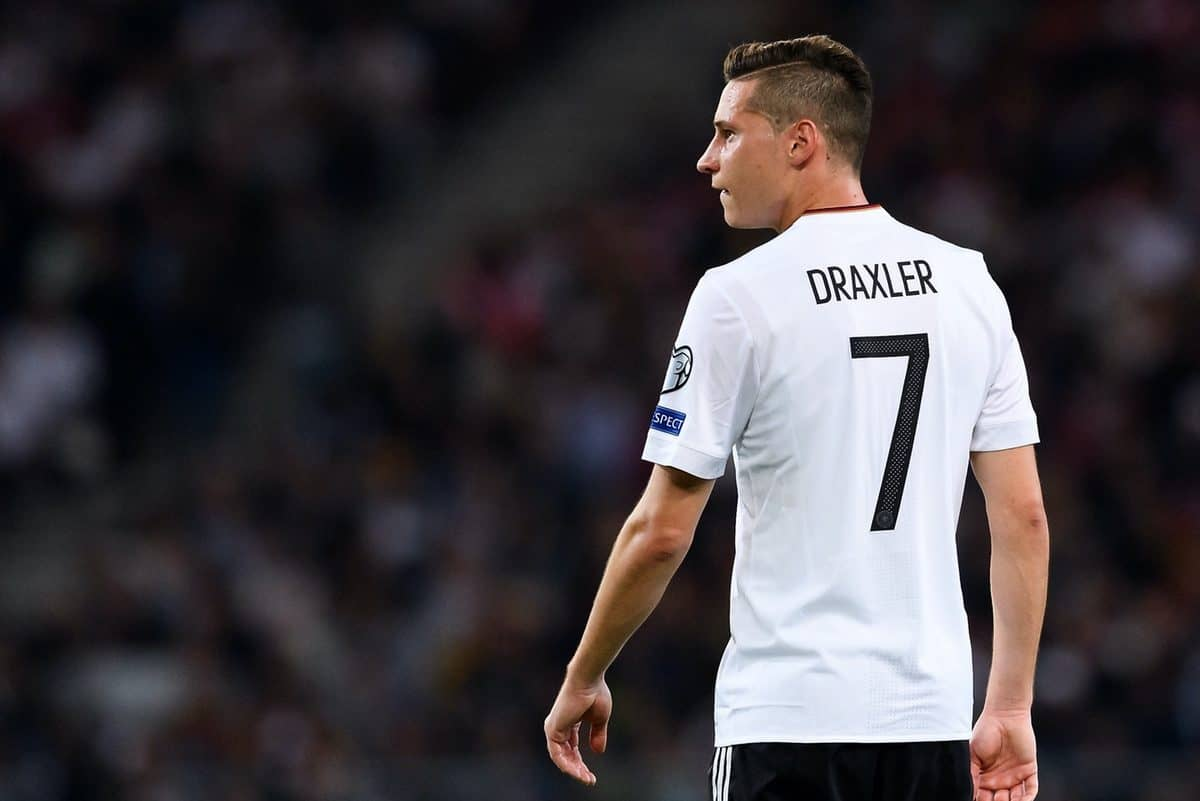 Julian Draxler (Deutschland). GES/ Fussball/ WM Qualifikation: Deutschland - Norwegen, 04.09.2017 Football / Soccer: WC qualification: Germany vs Norway, Stuttgart, September 4, 2017 | Verwendung weltweit