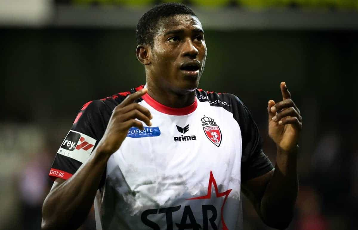 Mouscron's Taiwo Awoniyi pictured during a Croky Cup 1/16 final game between Excel Mouscron and AFC Tubize (1B), in Mouscron, Wednesday 20 September 2017. BELGA PHOTO VIRGINIE LEFOUR