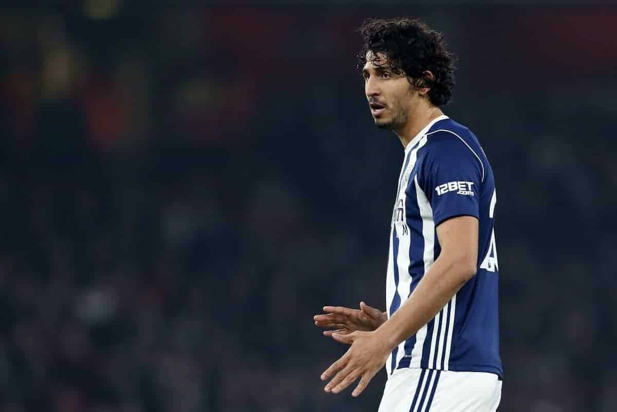 West Brom's Ahmed Hegazy in action during the premier league match at the Emirates Stadium, London. Picture date 25th September 2017. Picture credit should read: David Klein/Sportimage via PA Images