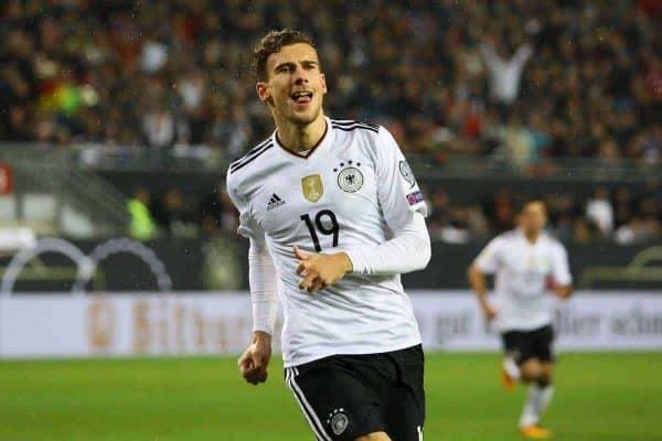 celebrate the goal, Torjubel zum 1:0 von Leon Goretzka (Deutschland Germany) - 08.10.2017: Deutschland vs. Asabaidschan, WM-Qualifikation Spiel 10, Betzenberg Kaiserslautern (Marc Schueler/Imago/PA Images)