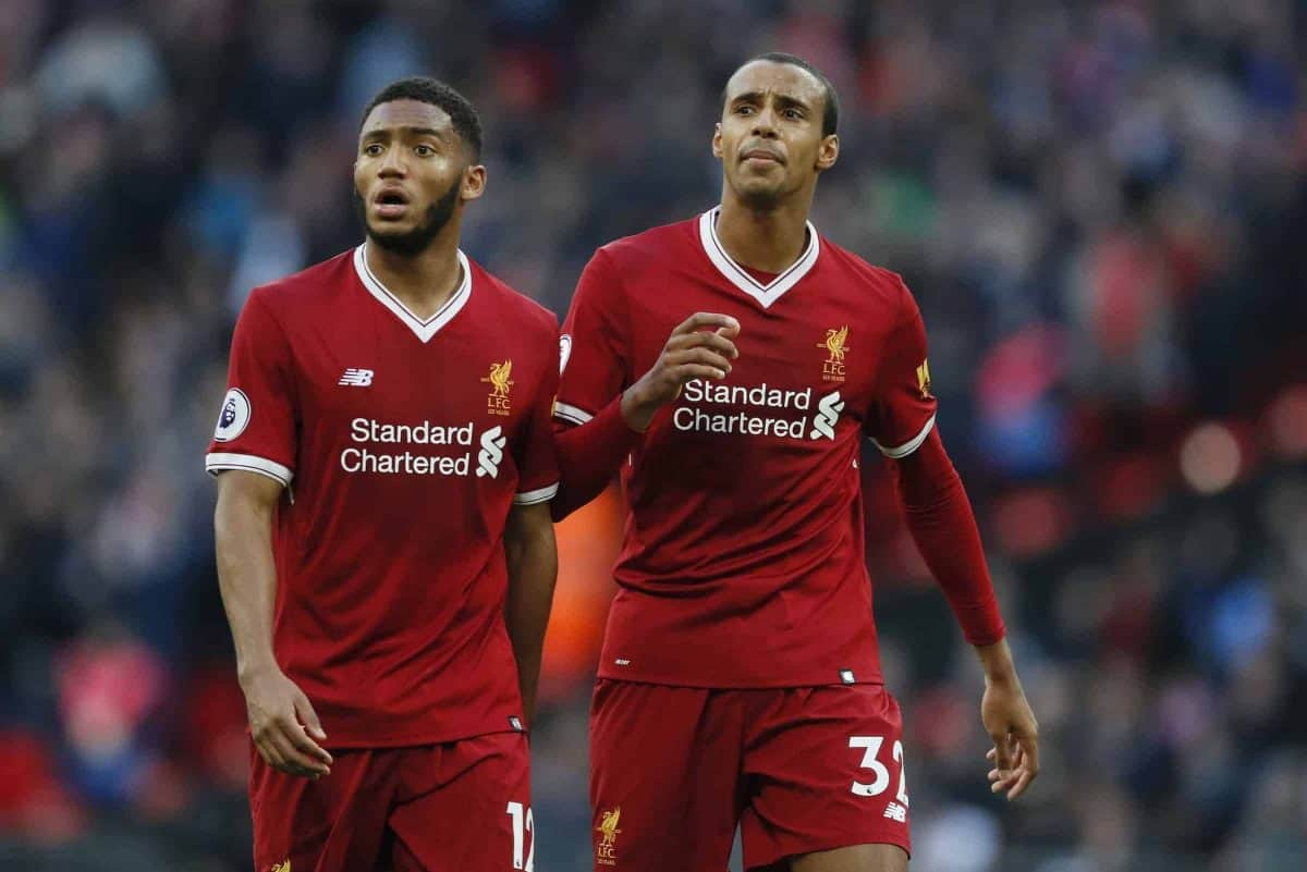 Joe Gomez, Joel Matip - Tottenham, Liverpool, Wembley 2017 (Liverpool manager Jurgen Klopp. (Adam Davy/PA Wire/PA Images))