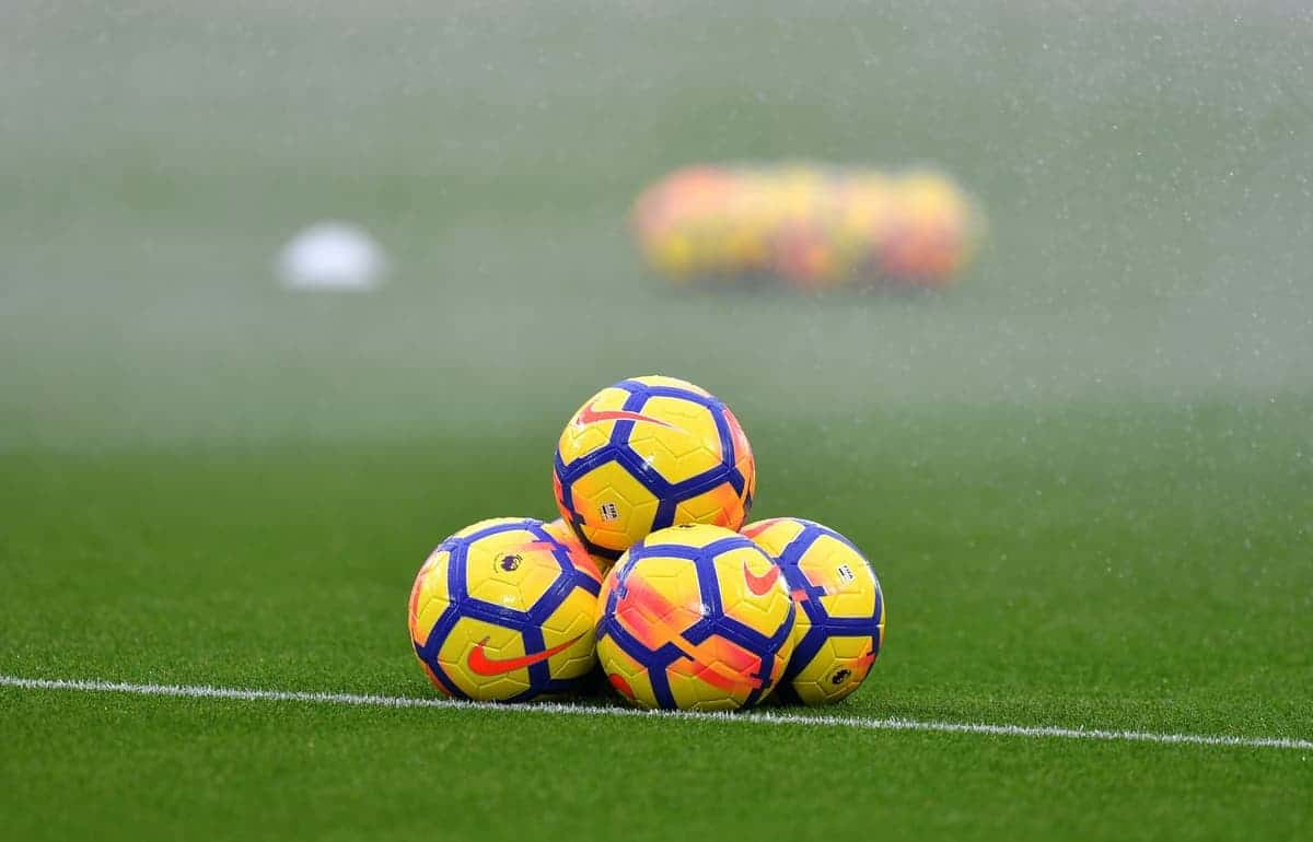 A general view of Nike match balls during the Premier League match at Anfield, Liverpool. (Dave Howarth/PA Wire.)