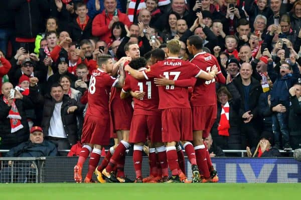 Liverpool players celebrate, 2017 (Photo: Dave Howarth/PA Wire)