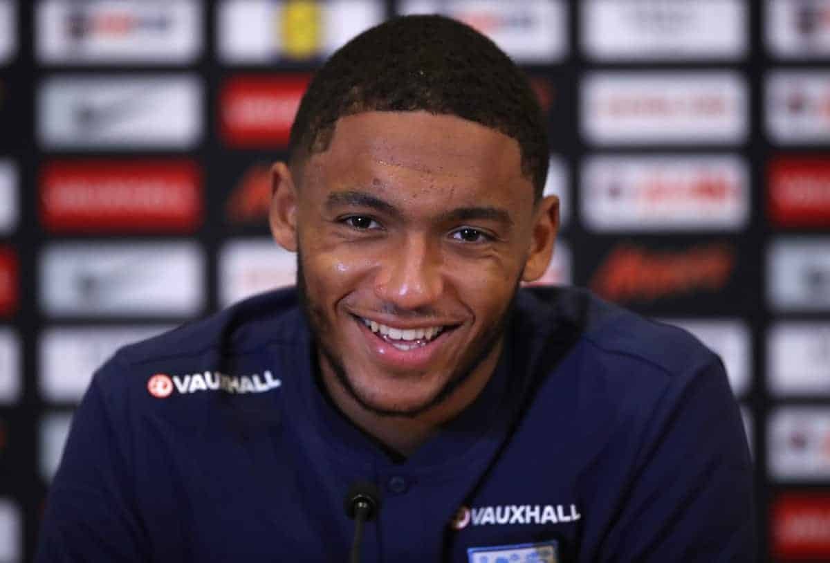 England's Joe Gomez during the media day at St George's Park, Burton. (PA Images)
