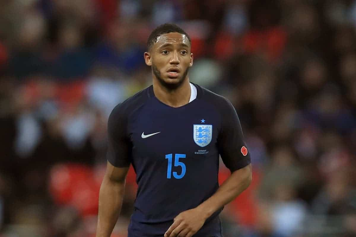 England's Joe Gomez during the International Friendly match at Wembley Stadium, London. Mike Egerton/PA Wire/PA Images