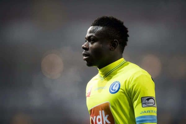Gent's Moses Simon pictured during the Jupiler Pro League match between SV Zulte Waregem and KAA Gent, in Waregem, Sunday 03 December 2017, on day 18 of the Jupiler Pro League, the Belgian soccer championship season 2017-2018. BELGA PHOTO JASPER JACOBS