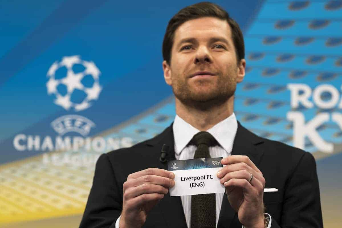December 11, 2017 - Nyon, Schweiz - Nyon, 11.12.2017, Fussball, Auslosung Champions League, Das Los des Liverpool FC (ENG) wird gezogen. Im Bild ist Xabi Alonso (UEFA Champions League Final Ambassador) (Credit Image: © Pascal Muller/EQ Images via ZUMA Press)