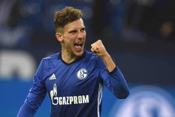 FC Schalke 04 - FSV Mainz 05 / 20.10.2017/ Leon Goretzka jubelt ballt die Faust *** FC Schalke 04 FSV Mainz 05 20 10 2017 Leon Goretzka cheerfully fists his fist HM.