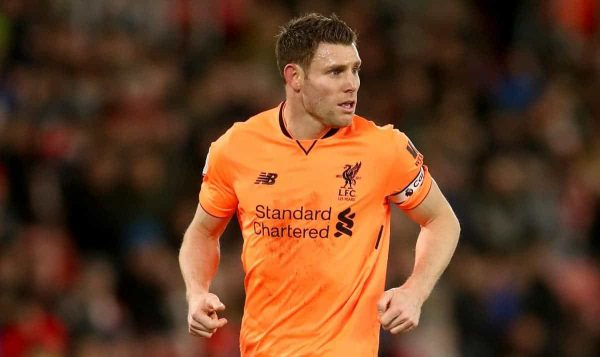 Liverpool's James Milner (John Walton/PA Archive/PA Images)