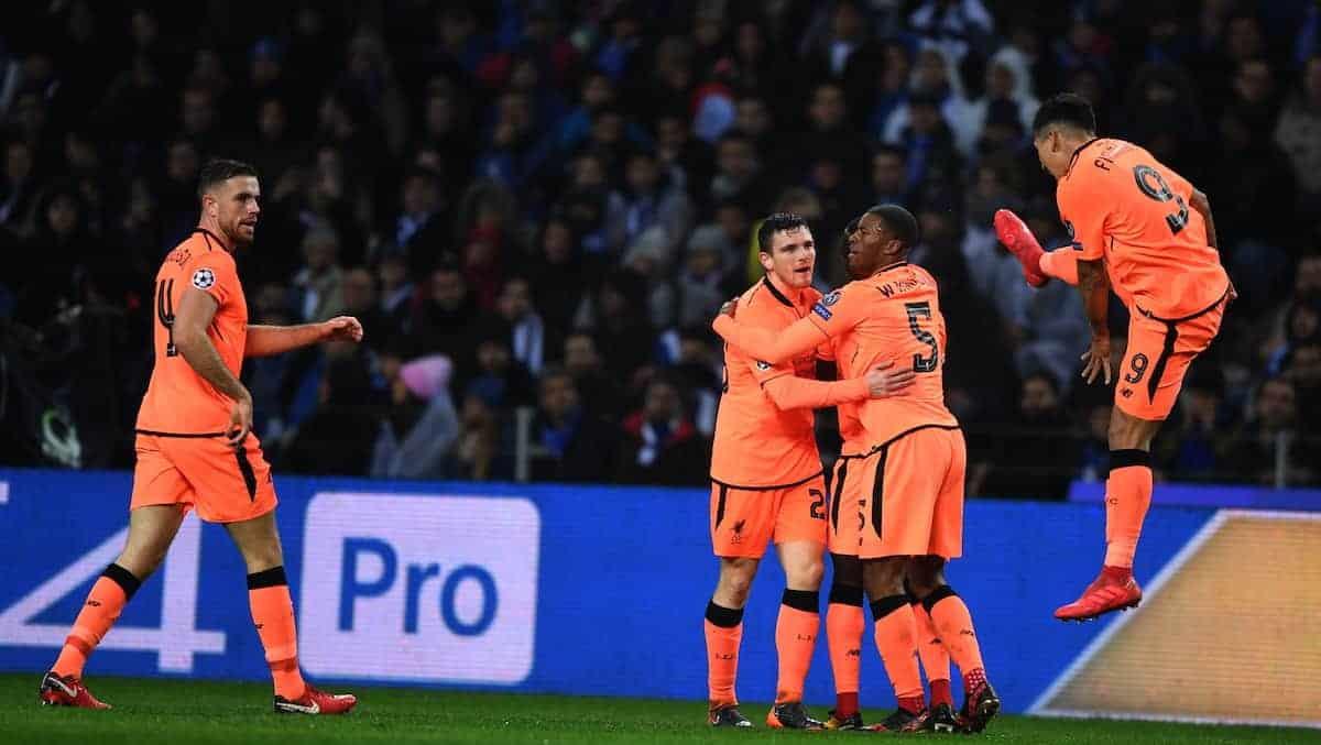 Roberto Firmino kung fu celebration, Liverpool Porto.(Xinhua/Zhang Liyun)