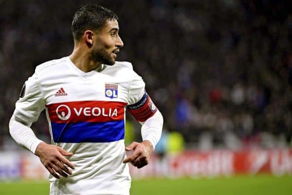 NABIL FEKIR during the UEFA Europa League Round of 32 game between Lyon and Villareal - First Round (Photo Stephane GUIOCHON/Maxppp/PA Images)