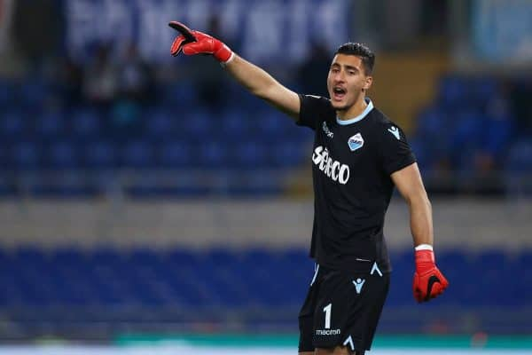 Thomas Strakosha of Lazio at Olimpico Stadium in Rome, Italy on February 19, 2018. (Photo by Matteo Ciambelli/NurPhoto/Sipa USA)