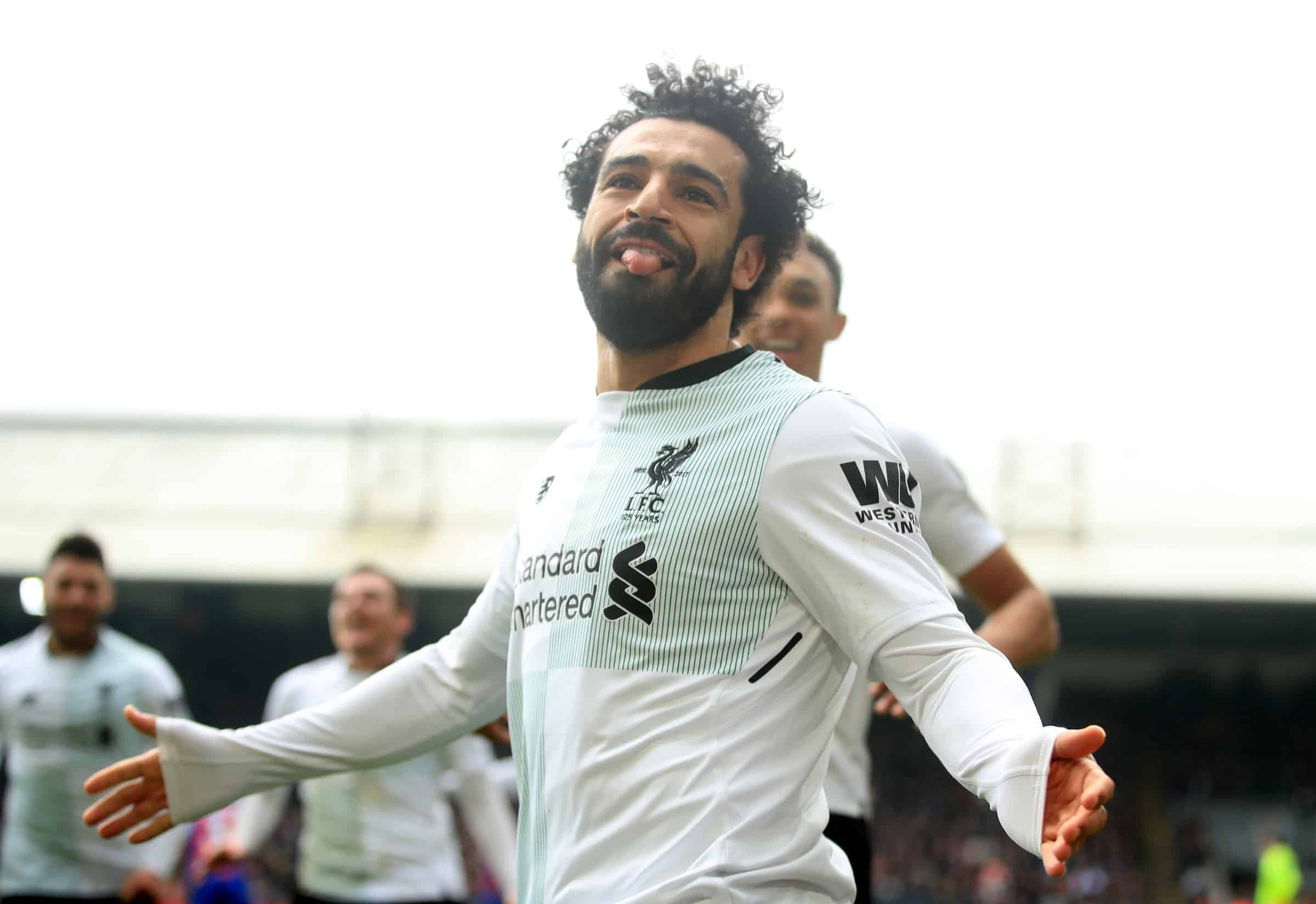 Liverpool's Mohamed Salah celebrates scoring his side's second goal of the game during the Premier League match at Selhurst Park, London. ( Adam Davy/PA Wire/PA Images)