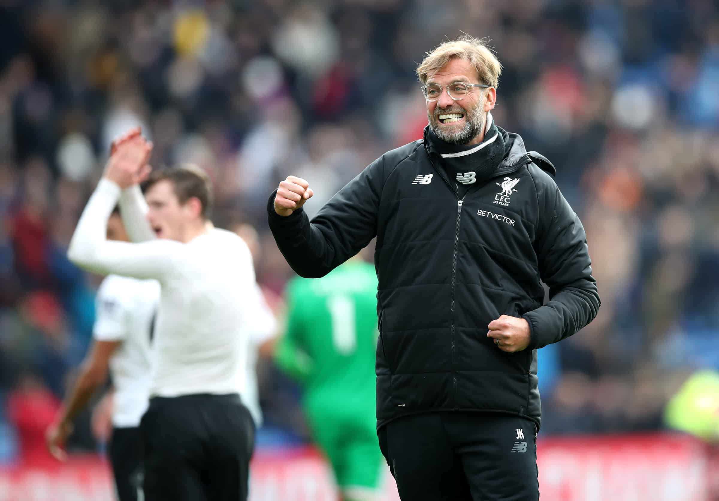 Liverpool manager Jurgen Klopp celebrates after the Premier League match at Selhurst Park, London. ( Adam Davy/PA Wire/PA Images)