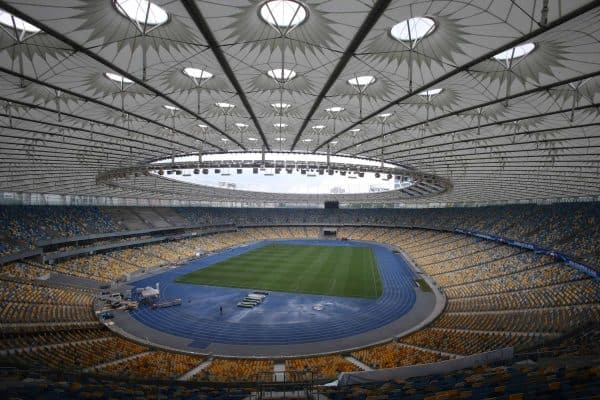NSC Olympic stadium in Kiev, Ukraine. (Image: Sergey/Xinhua News Agency/PA Images)
