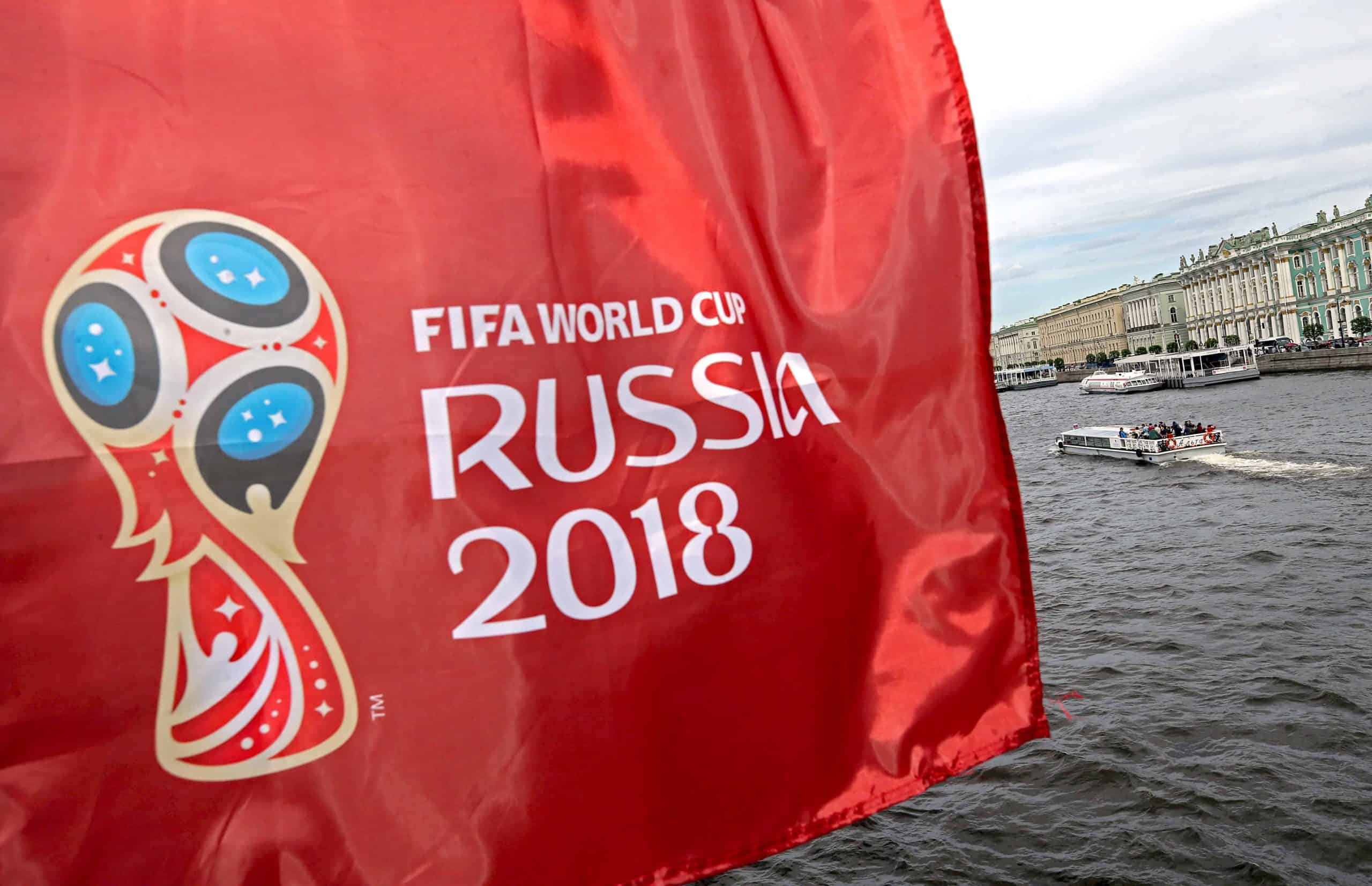 FIFA World Cup Russia 2018 flag (Alexander Demianchuk/Tass/PA Images)