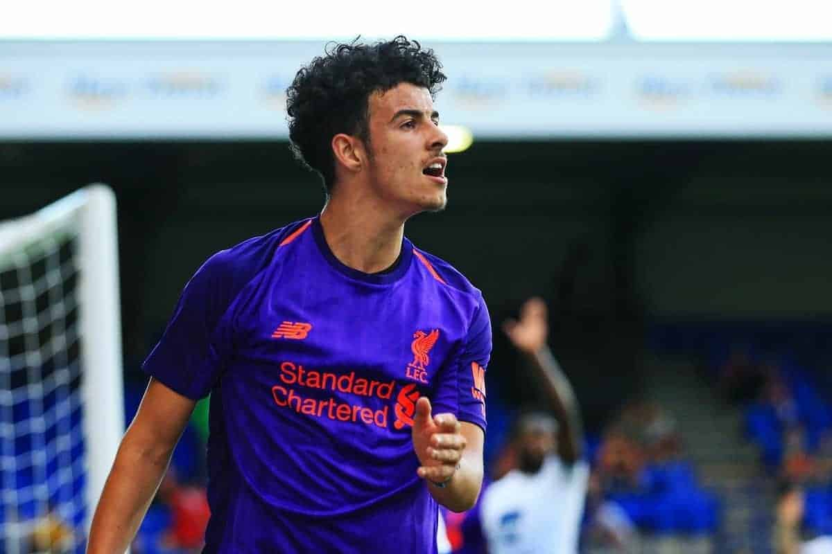 Curtis Jones of Liverpool during the pre season match at Prenton Park, Birkenhead. Picture date 10th July 2018. Picture credit should read: Matt McNulty/Sportimage via PA Images