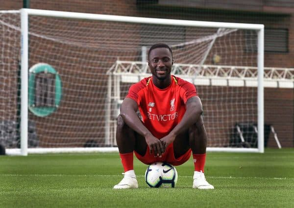 Handout photo provided by Liverpool FC of Naby Keita. (Image: John Powell/Liverpool FC/PA Wire.)