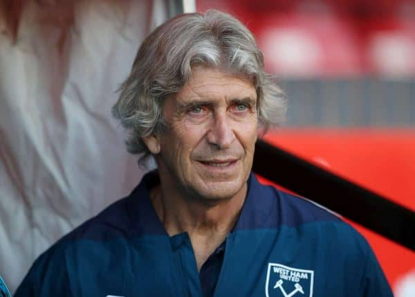 West Ham manager Manuel Pellegrini (David Davies/PA Wire/PA Images)