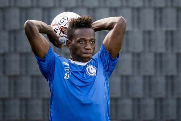 KAA Gent's new player Anderson Arroyo Cordoba pictured in action during a training session of Belgian soccer team KAA Gent, during the 2018-2019 Jupiler Pro League season, Friday 07 September 2018, in Gent. BELGA PHOTO JASPER JACOBS