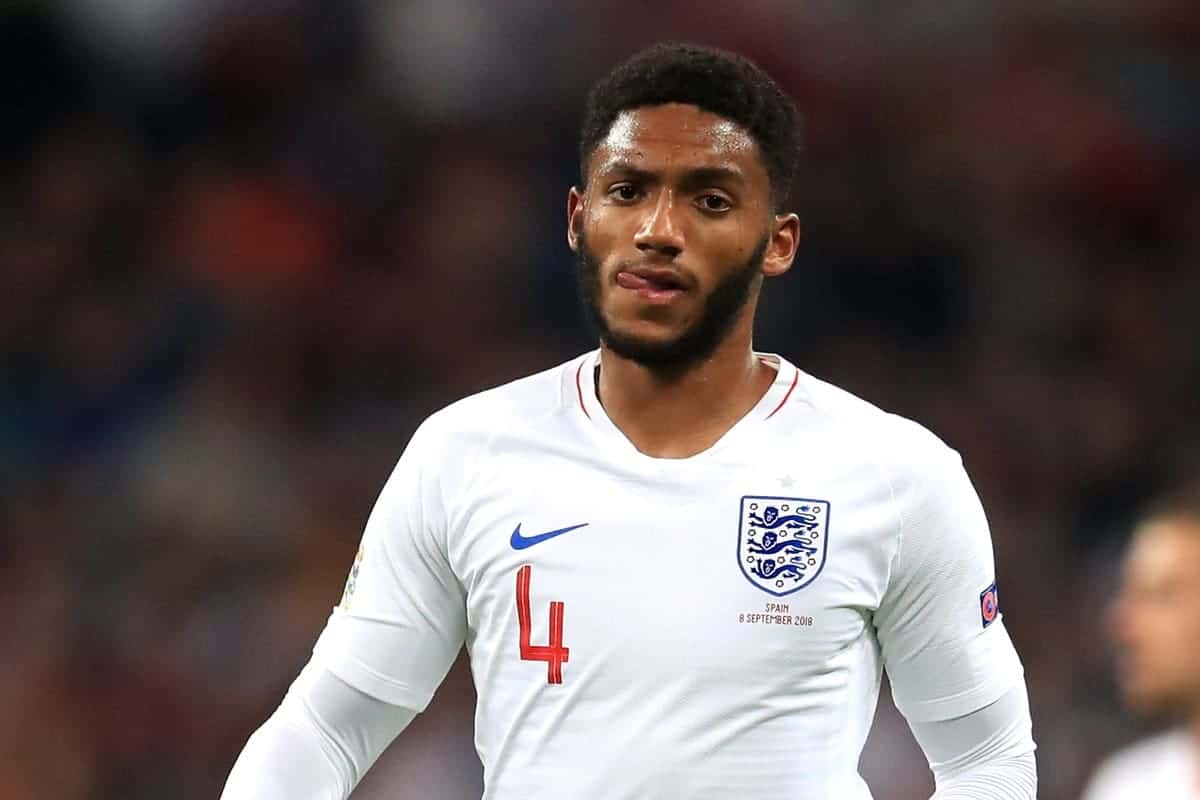 England's Joe Gomez during the UEFA Nations League League A Group Four match at Wembley Stadium London