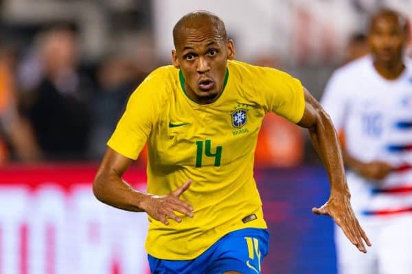 The men's national teams of the United States (USA) and Brazil (BRA) played an international friendly at MetLife Stadium. .