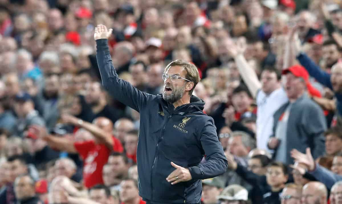 Liverpool manager Jurgen Klopp gestures on the touchline during the Martin Rickett/PA Wire.