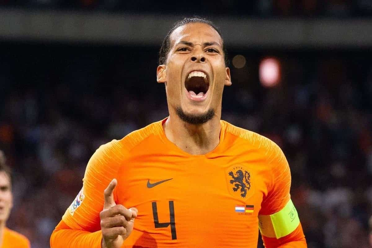 Virgil van Dijk of Holland during the UEFA Nations League A group 1 qualifying match between The Netherlands and Germany at the Johan Cruijff Arena on October 13, 2018 in Amsterdam, The Netherlands (Tom Bode/VI Images/PA Images)