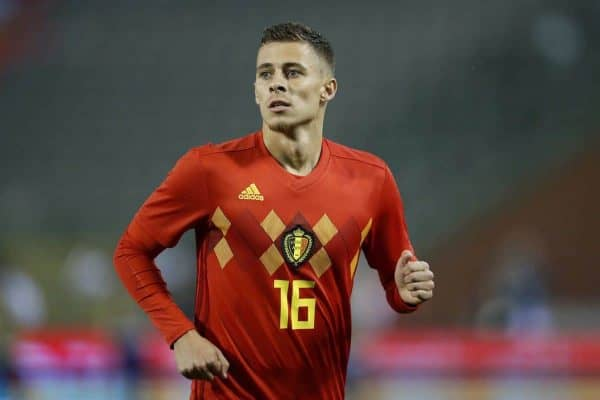 Thorgan Hazard of Belgium during the International friendly match between Belgium and The Netherlands at the King Baudouin Stadium on October 16, 2018 in Brussels, Belgium