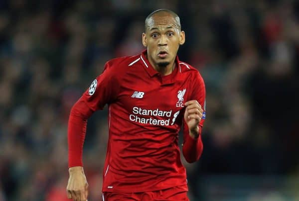 Liverpool's Fabinho during the UEFA Champions League match at Anfield Stadium, Liverpool. (Photo: Matt McNulty/Sportimage via PA Images)