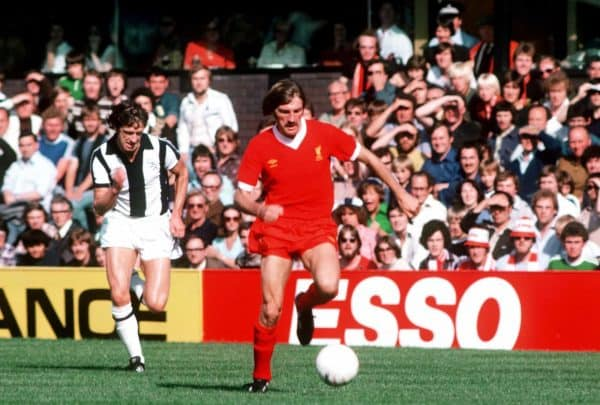 Steve Heighway of Liverpool (r) gets away from West Bromwich Albion's John Wile (l) (Peter Robinson/EMPICS Sport)
