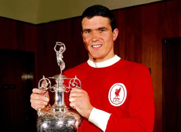 Liverpool captain Ron Yeats with the League Championship trophy, 1964 (Don Morley/EMPICS Sport)