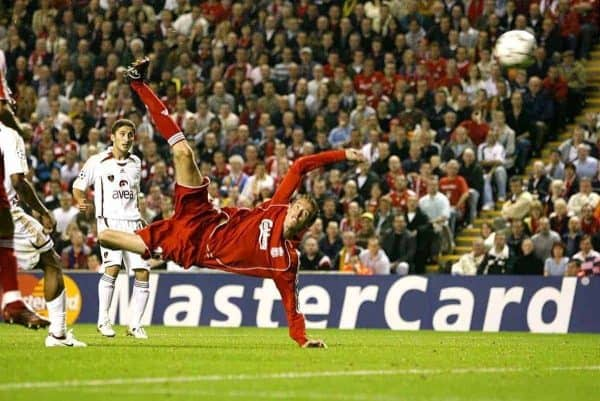 Liverpool's Peter Crouch scores his second goal of the game (Peter Byrne/PA Archive/PA Images)