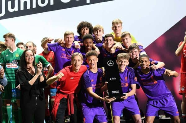 LFC Under-18s Mercedes Benz junior cup winners 2019 (Markus Gilliar/DPA/PA Images)