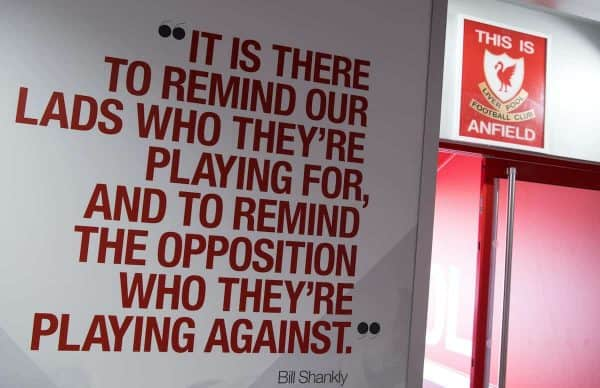 This Is Anfield tunnel sign (Photo: Sven Hoppe/dpa)