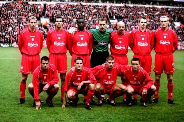 Liverpool lineup vs Barcelona, UEFA Cup semi final, 2001 ( Adam Davy/EMPICS Sport)