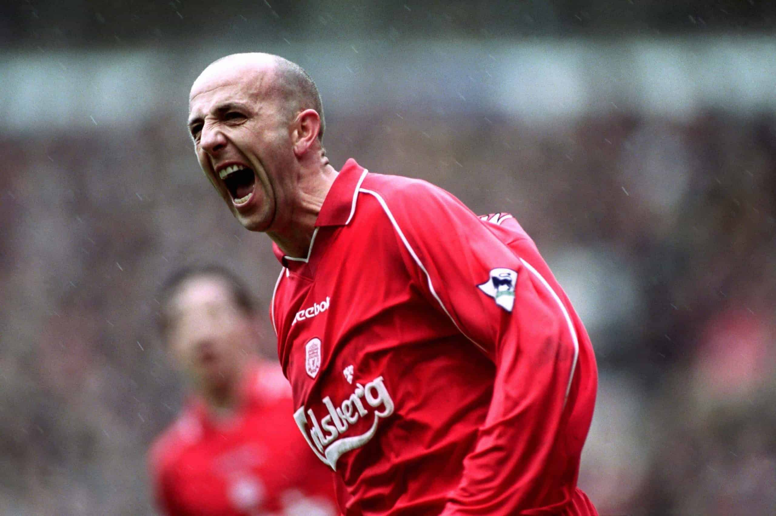 Liverpool's Gary McAllister celebrates his goal from the penalty spot ((Mike Egerton/EMPICS Sport)