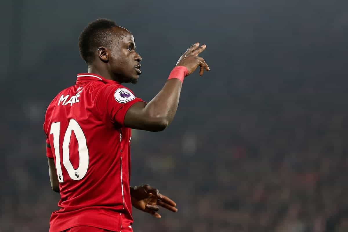 Sadio Mane of Liverpool celebrates scoring against Watford at Anfield ( James Wilson/Sportimage/PA Images)