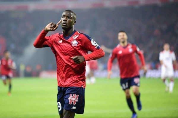 joie des joueurs de Lille apres le but de Nicolas Pepe (Losc) FOOTBALL : Lille vs Lyon - Ligue 1 Conforama - 01/12/2018 JBAutissier/Panoramic.
