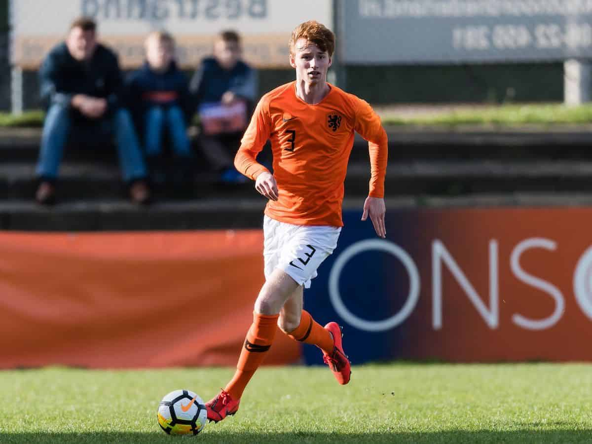 Sepp van den Berg of Holland U19 (Gerrit van Keulen/VI Images/PA Images)
