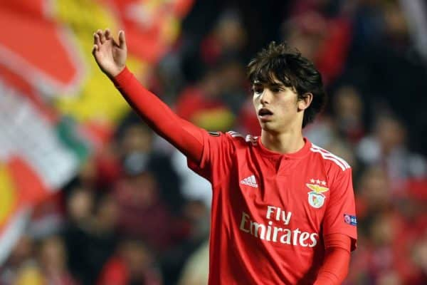 Joao Felix of Benfica celebrates after the game. Photo: Arne Dedert/DPA/PA Images