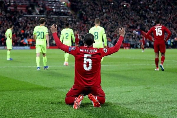 Liverpool's Georginio Wijnaldum celebrates after the final whistle