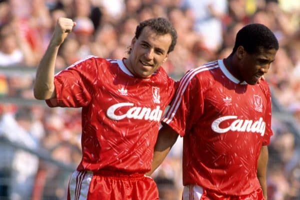 Ronnie Rosenthal and John Barnes, 1990 (PA Image)