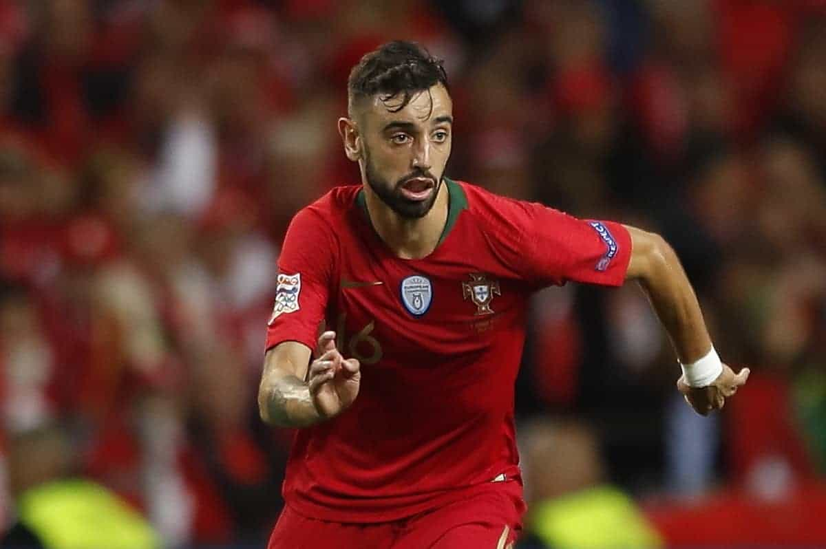 Bruno Fernandes (POR), JUN 5, 2019 - Football / Soccer : UEFA Nations League Semi-finals match between Portugal 3-1 Switzerland at the Estadio do Dragao in Porto, Portugal. (Photo by Mutsu Kawamori/AFLO)