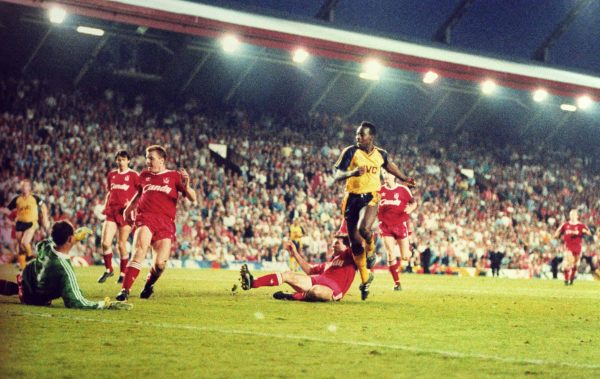 Michael Thomas, Arsenal, Anfield, 1989 ( Paul Marriott/Press Association Images)