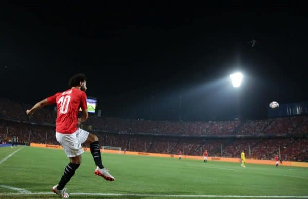 Mohamed Salah of Egypt during the 2019 Africa Cup of Nations Finals match between Egypt and Zimbabwe at Cairo International Stadium, Cairo, Egypt on 21 June 2019 ©Samuel Shivambu/BackpagePix ( Samuel Shivambu/Sports Inc/PA Images)