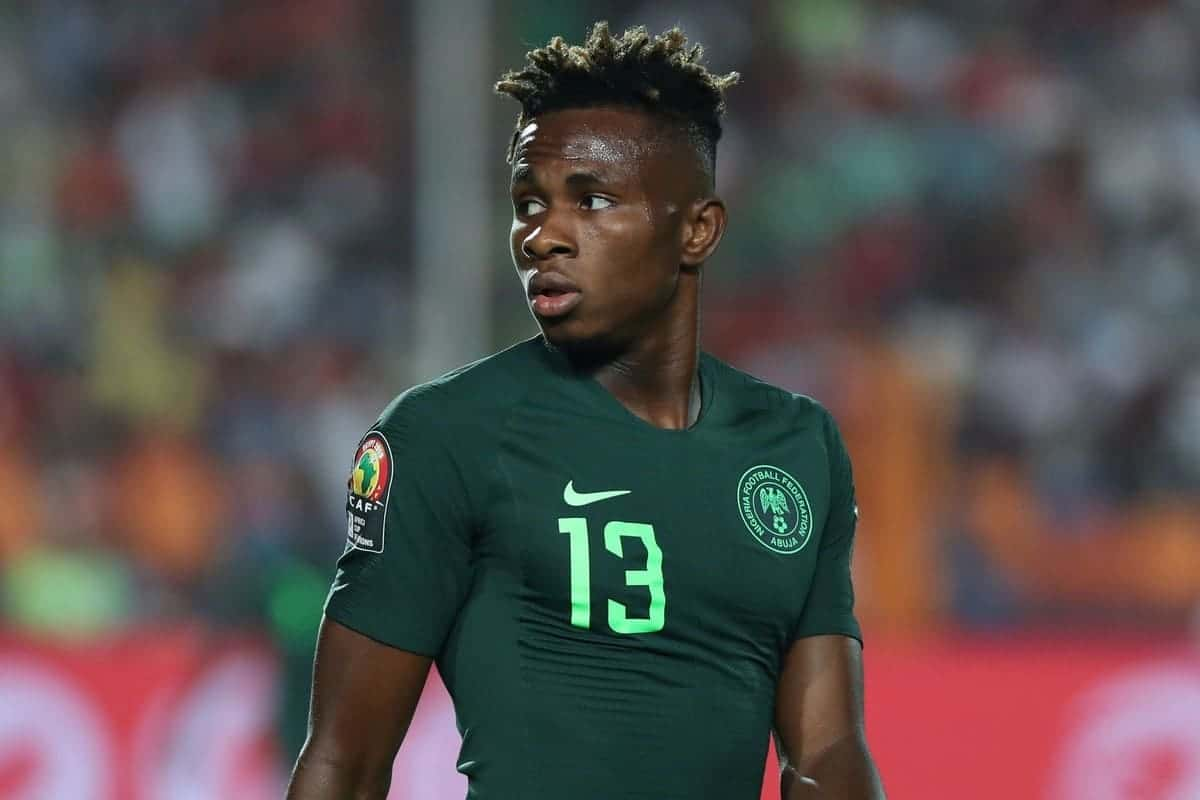 Samuel Chukwueze of Nigeria during the 2019 Africa Cup of Nations Finals Semifinal football match between Algeria and Nigeria at the Cairo International Stadium, Cairo, Egypt on 14 July 2019 ©Gavin Barker/BackpagePix