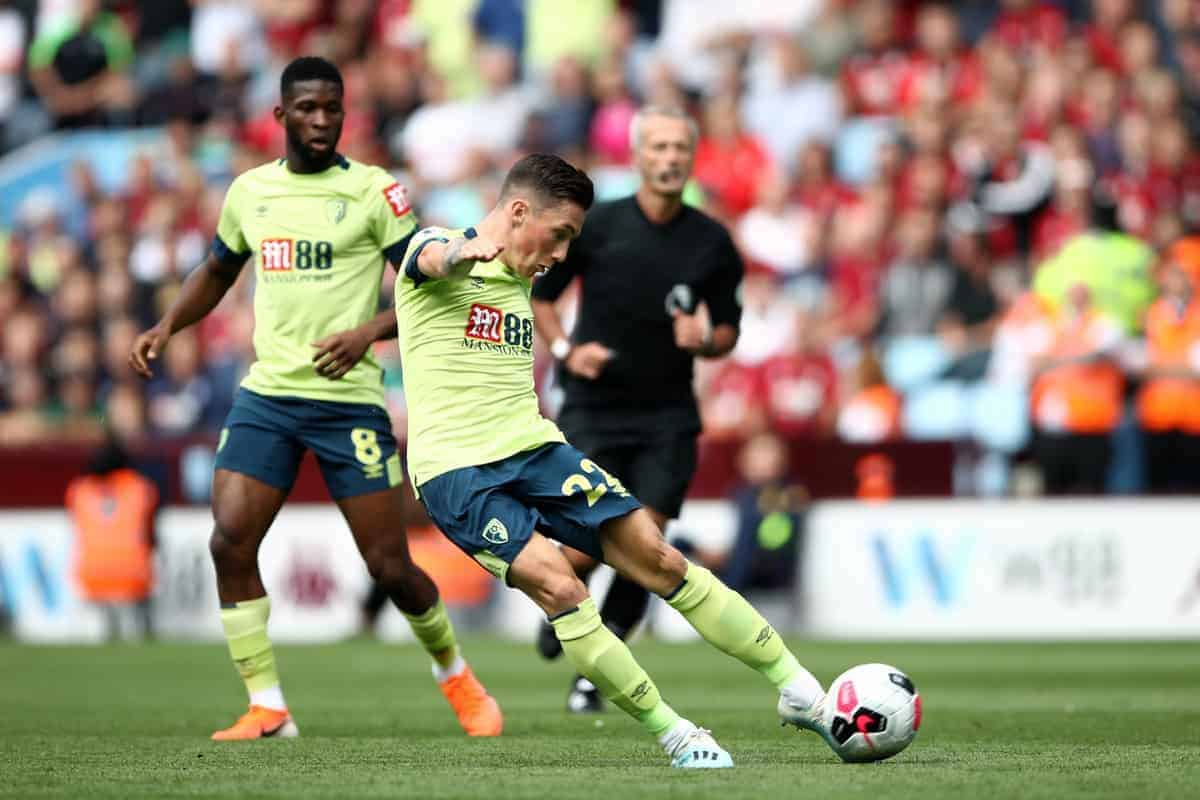 "Bournemouth's Harry Wilson scores his side's second goal of the game during the Premier League match at Villa Park, Birmingham. PRESS ASSOCIATION Photo. Picture date: Saturday August 17, 2019. See PA story SOCCER Villa. Photo credit should read: Tim Goode/PA Wire. RESTRICTIONS: EDITORIAL USE ONLY No use with unauthorised audio, video, data, fixture lists, club/league logos or ""live"" services. Online in-match use limited to 120 images, no video emulation. No use in betting, games or single club/league/player publications."