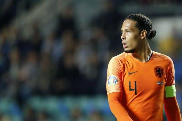 Virgil van Dijk of Holland during the UEFA EURO 2020 qualifier group C qualifying match between Estonia and The Netherlands at A. Le Coq Arena on September 09, 2019 in Tallinn, Estonia